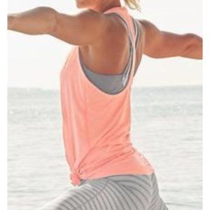 ATHLETA High Neck Shadow Stripe Chi Tank Racerback